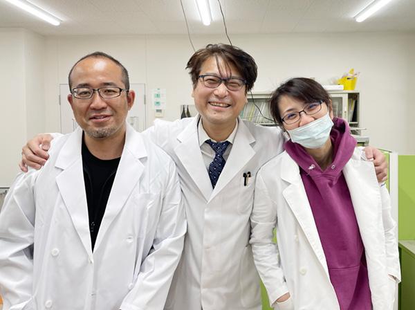 左から三好先生堤先生野田先生